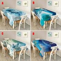 Décor à la maison Rectangulaire Bleu Océan Stlye Nappe Polyester Table de Couverture de Tissu Plus choix Libère L'expédition