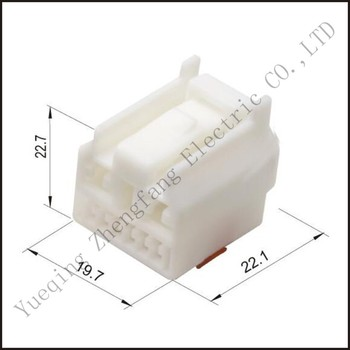 Male female wire connector 8 pin connector terminal Plugs socket Fuse box Wire harness Soft Jacket DJ7081-1.2/4.8-21