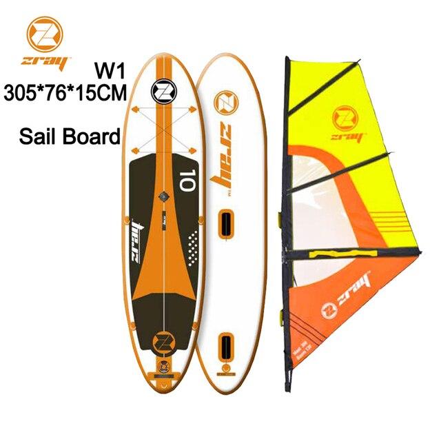 Sail Board Sup 305*76*15 M Z Ray W1 Stabil Paduan Tiup Papan Surf Surfing kayak Olahraga Kapal Bodyboard 21 Windsail