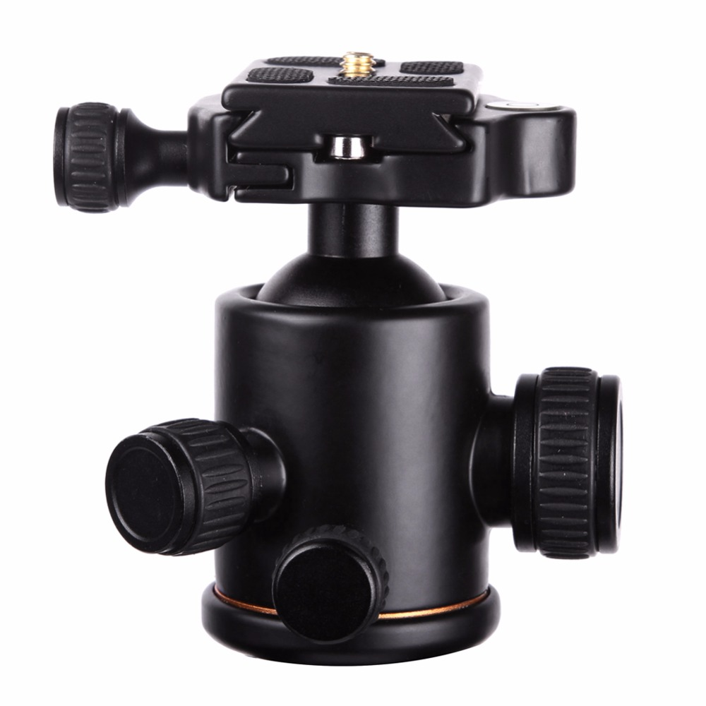2017 Hot Professional Camera Tripod Head Ball Head with Quick Release Plate 1/4 Screw Max Load 8kg Tripod Headball 50pcs lot wire hanger fastener hanging photo picture frame quick easy clutch release nickel plate movable head ceiling