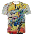 New Arrive Colorful Uzumaki Naruto 3D T shirt Summer Men/Women Graffiti Style Naruto Short Sleeve T-shirts Fashion Cool Tee Tops