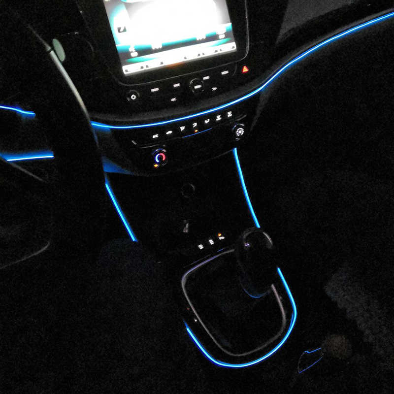 Universal 3M 5M Auto Flexible Neon Car Interior Atmosphere LED Cold Strip Lights with Cigarette Lighter Interface