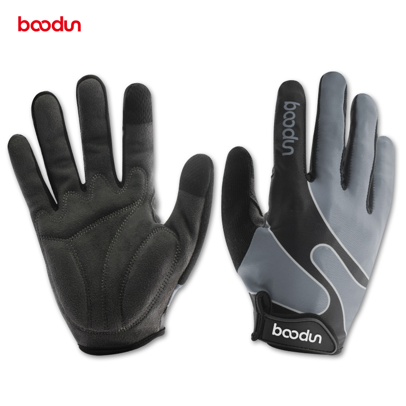 Boodun Cycling Glove Full Finger Lycra Men Women Windproof Touch Screen Outdoor Sports Running Bicycle Bike Glove Guantes
