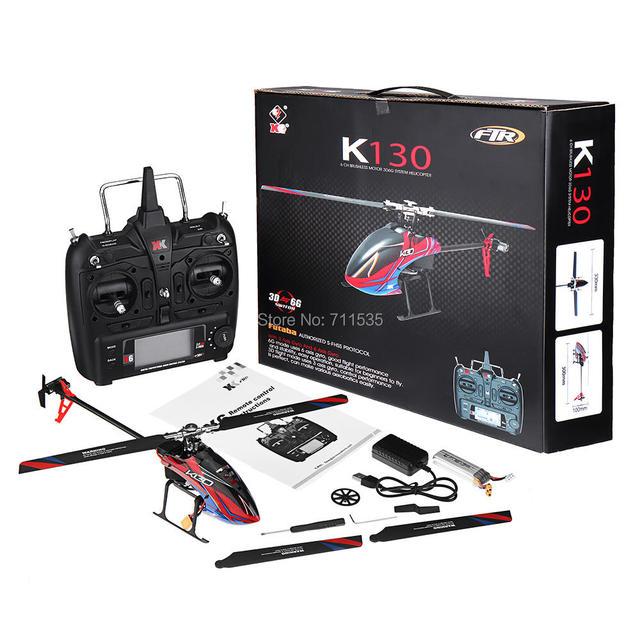 Wltoys XK K130 2.4G 6CH فرش ثلاثية الأبعاد 6G نظام Flybarless RC هليكوبتر RTF 6 قنوات كومبو متوافق مع FUTABA S FHSSRTF