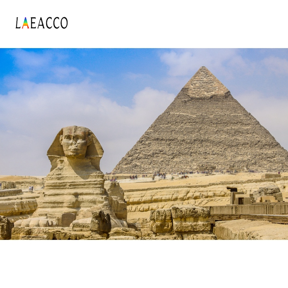Laeacco Egypt Sphinx Pyramid Remain Backdrop Photography Backgrounds Customized Photographic Backdrops For Photo Studio in Background from Consumer Electronics