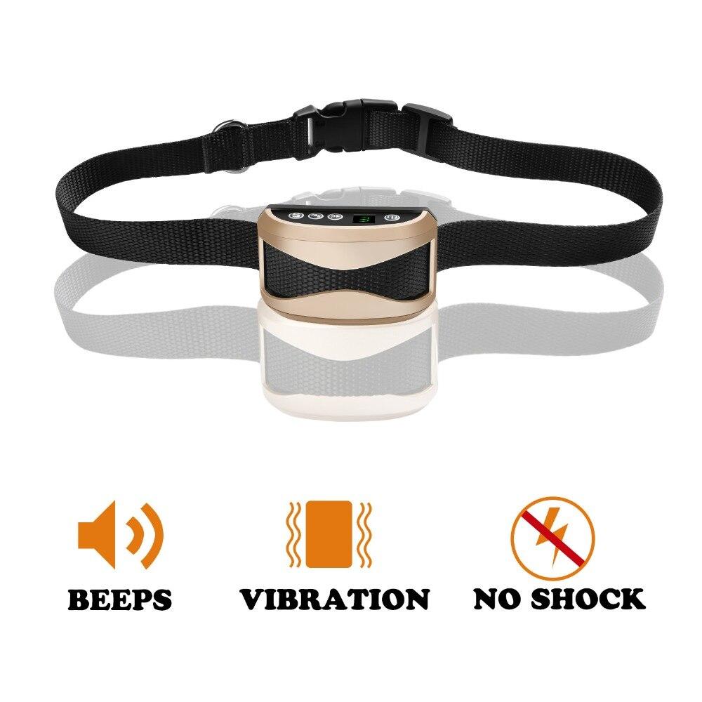 Perro de mascota recargable anti ladridos collar ajustable 7 niveles de sensibilidad vibración stop Barking Dog impermeable Collares de adiestramiento