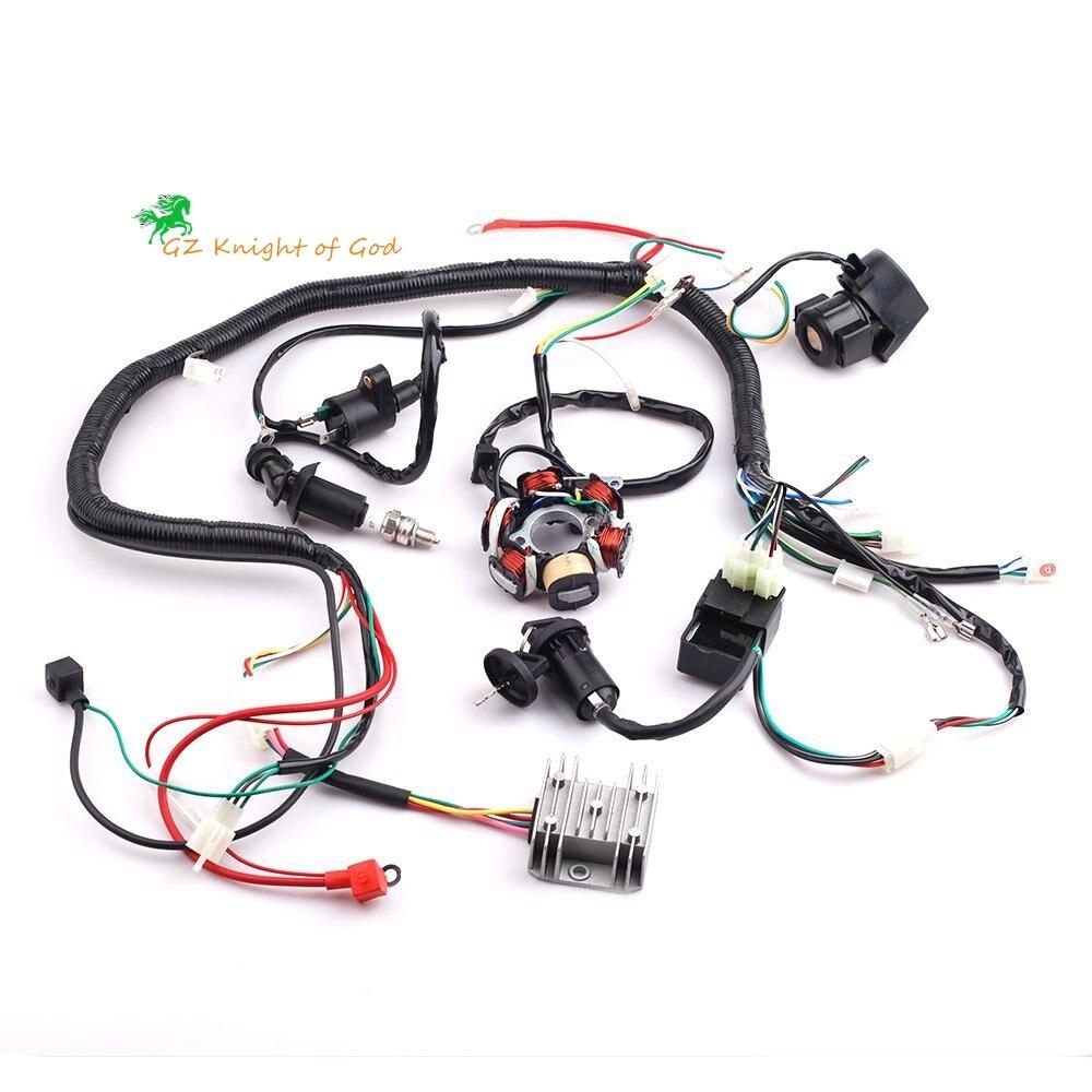 Complete Elec Wiring Harness GY6 125//150CC Wire Loom Magneto Stator ATV QUAD USA