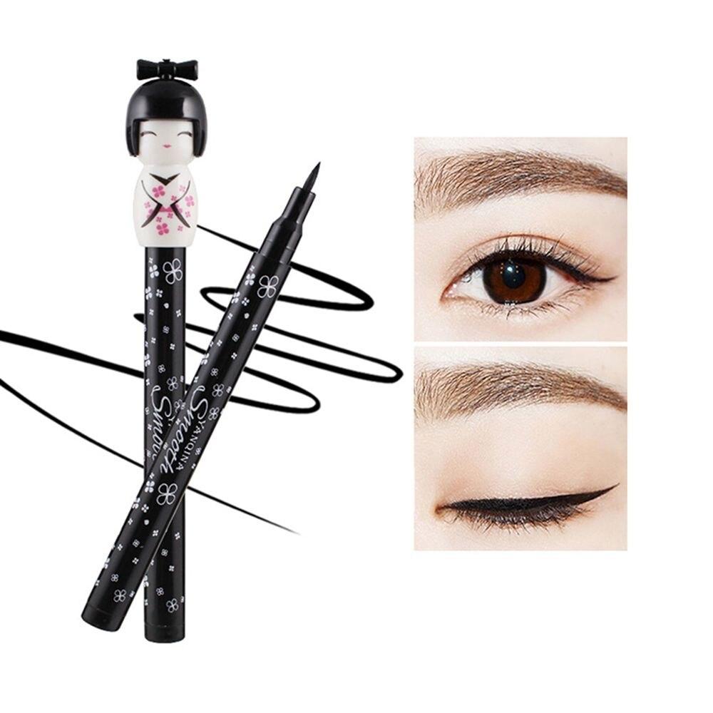 1pc Kawaii Japanese Doll Style Long Lasting Waterproof Black Liquid