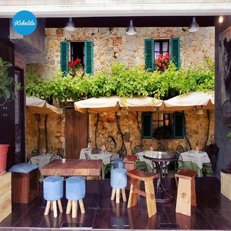 XCHELDA Custom 3D Wallpaper Design Cafe Shop Photo Kitchen Bedroom Living Room Wall Murals Papel De Parede Para Quarto