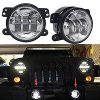 TNOOG 4 LED Driving Lamp Fog Light Round 4 Inch Passing Lamp For Jeep Wrangler JK
