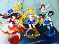5 Stile Anime Sailor Moon Jupiter Figure Urano Nettuno Tsukino Usagi Mars Mercurio Giove Venere Saturn Pvc Giocattoli