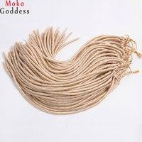 MoKoGoddess 6 Pcs/lot Faux Col Crochet Cheveux Tresse 18 Pouce 24 Stands/pack Synthétique Extensions de Cheveux