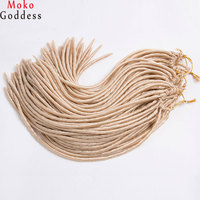 MoKoGoddess 6Pcs Lot Faux Locs Crochet Hair Braid 18 Inch 24 Stands Pack Synthetic Hair Extensions