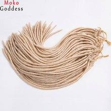 Mokogoddess 6 шт./лот искусственная locs крючком волосы заплетены 18 дюймов 24 Подставки упаковке Синтетические пряди для наращивания волос