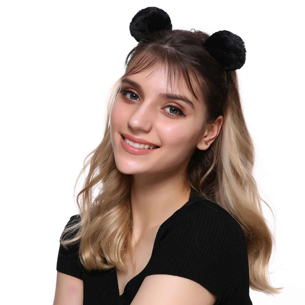 MISM 49 New Arrival Pompom Headband Korean Style Girls Hair Hoop