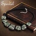 Special nueva moda negro onyx collares y colgantes natural shell s1639n maxi collar de la joyería de lujo 2017 regalos para las mujeres