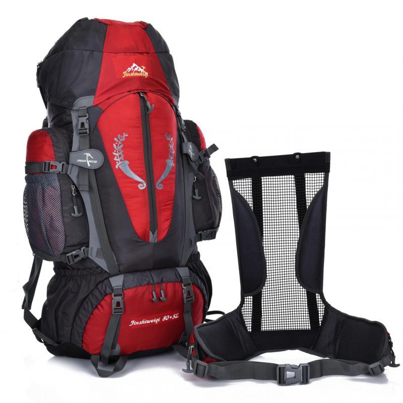 ФОТО 85L Large Professional Mountaineering Bag Outdoor Backpack Waterproof Nylon Bagpack Climbing Hiking Travelling Rucksack HAB045