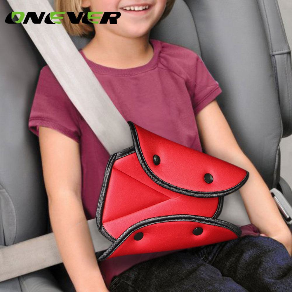 Onever Car Triangle Safety Belt Fixator Cover Pad for Baby Kid Seat Belt Adjuster Child Neck Shoulder Harness Strip Protector-in Seat Belts & Padding from Automobiles & Motorcycles