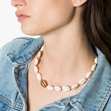2019 PUNK Fashion Hot Shells Necklace Bracelet Set Silver Gold Color and Nature Shell Charm Handmade Jewelry Necklace Set