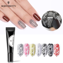 BORN PRETTY Nail Stamping Gel Polish 8ml Black White Stamp Print Oil UV Lacquer Soak Off Varnish for Art Plate