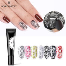Nake PRETTY Nail Stamping Gel polaco 8ml negro blanco sello estampado aceite UV Gel laca remojo de barniz para placa de estampado de Arte de uñas(China)