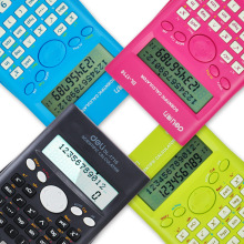 Effective Scientific Calculator DL-1710 240 Functions Large Screen Display Calculator Examination Colorful Metal Back Cover