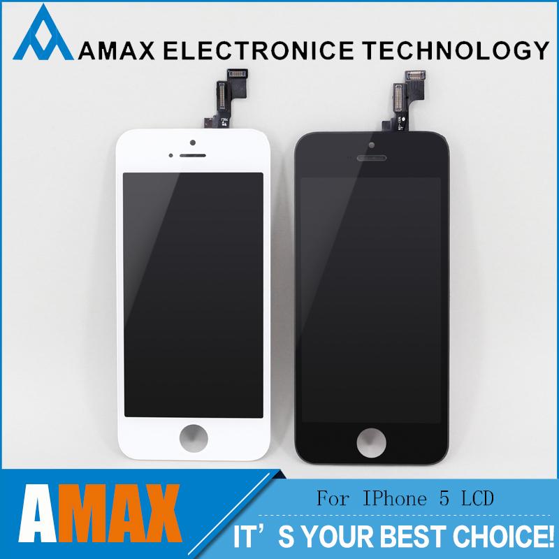 Prix pour 20 PCS/LOT 100% Marque Nouveau Pour iPhone 5S LCD Avec Écran Tactile Digitizer Assemblée Remplacement