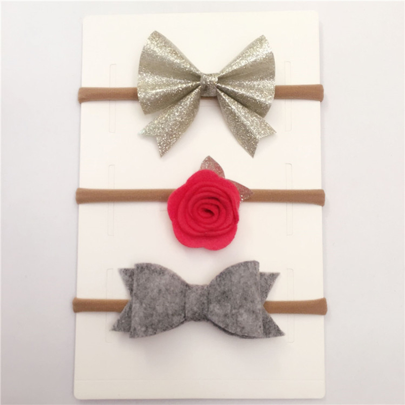 Headband For Bebe Girl Nylon Head bands Children Elastic Flower Hairband Bowknot Chiffon Floral Headwear Hair Accessory 3Pcs/Set 8 pieces children hair clip headwear cartoon headband korea girl iron head band women child hairpin elastic accessories haar pin