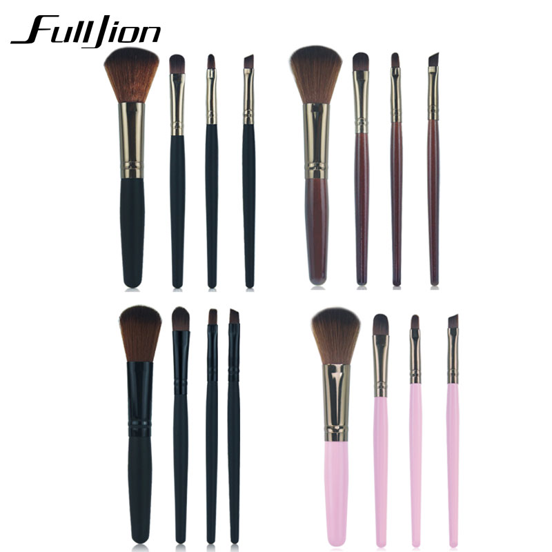 1 4PCS Professional Super Soft Makeup Eyebrow Brush Eyeshadow brush eyeliner Lip Brush Make up Comestic