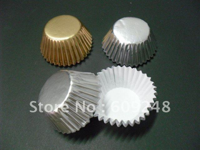 Free Shipping Paper Cupcake Liners,Wholesale Gold and Silver Cupcake Baking Cups,1000pcs/lot,Wedding Cupcake Cases Wholesale
