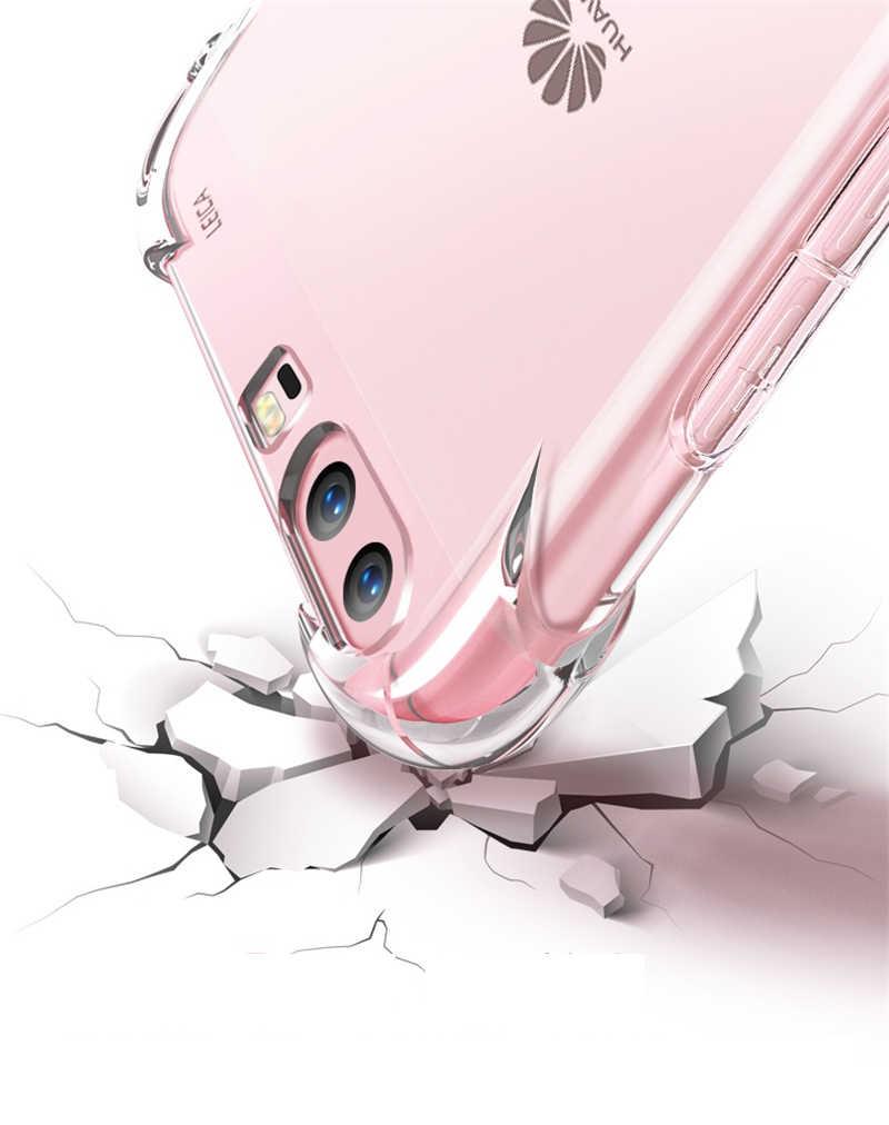Für Huawei P20 Pro P10 lite 2017 Mate 9 10 Pro lite Nova 2 2i Ehre 6A 6X7X9 6C 8 Pro Fall Stoßfest TPU Klar Silikon Fällen