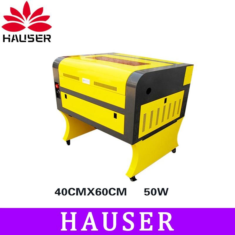 Frete Grátis A HCZ 50 w co2 laser CNC 4060 máquina de gravação a laser de corte a laser máquina de marcação laser mini gravador cnc router diy