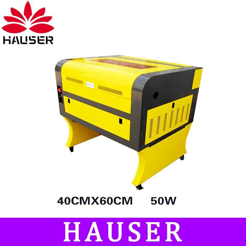 Livraison gratuite HCZ 50 w co2 laser CNC 4060 laser gravure cutter machine laser marquage machine mini laser graveur CNC routeur bricolage