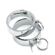 купить Hot sale top metal hand cuffs bondage harness adult games handcuffs slave bdsm sex toys for couples wrist restraints tools по цене 1795.75 рублей