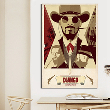 Django Unchained Poster Classic Movie Paintings On Canvas Modern Art Wall Pictures Home Decoration