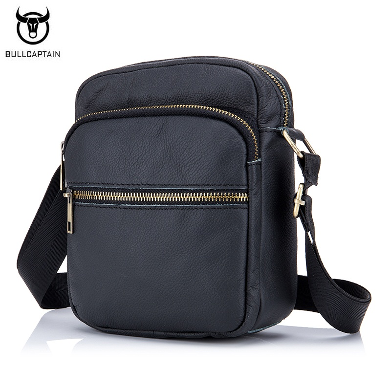 BULLCAPTAIN New Fashion Man Borsa in vera pelle Casual spalla uomini - Borse