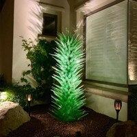 Современная муранская выдувная стеклянная скульптура домашний сад художественное украшение зеленое стекло художественное напольное осве