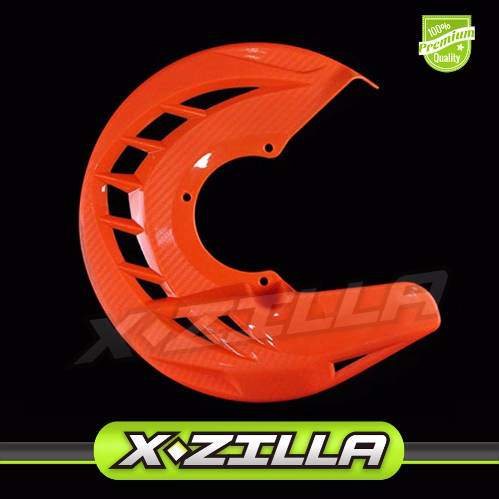 Front Brake Disc Rotor Guard Protector Cover For 125 200 250 300 530 SX SXF XC XCF EXC EXCF Dirt Pit Bike Enduro Motorcycle motorcycle front rider seat leather cover for ktm 125 200 390 duke