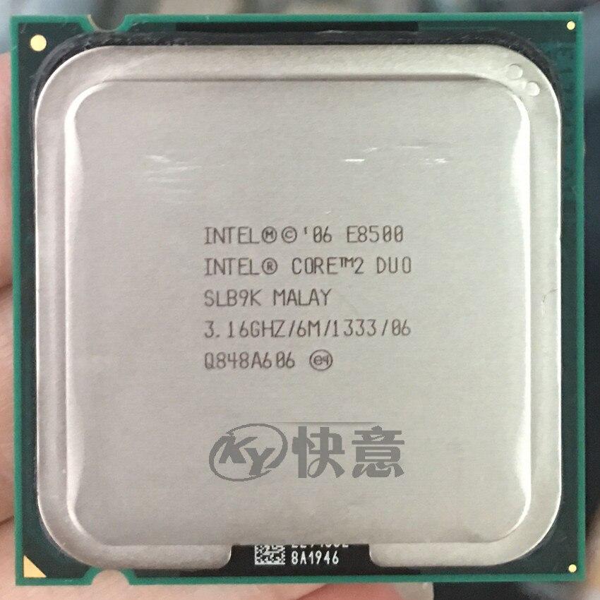 Intel Core 2 Duo Processor E8500 (6M Cache  3.16 GHz  1333 MHz FSB)SLB9K EO LGA775 Desktop CPU Intel central processing unit|desktop cpu|core 2 duo|cpu intel - title=