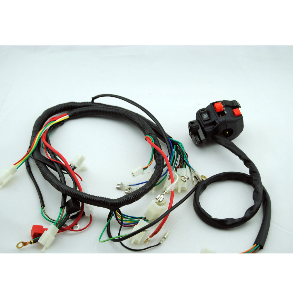 aliexpress com buy 250cc switch quad wiring harness 200 250cc aliexpress com buy 250cc switch quad wiring harness 200 250cc chinese electric start loncin zongshen ducar lifan shipping from reliable wire layout