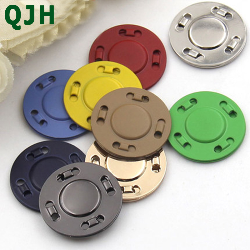 Hot Sale High Quality 20mm Metal Magnetic Snaps Button For Overcoat Bag Garment Accessories Scrapbooking DIY Sewing Buttons