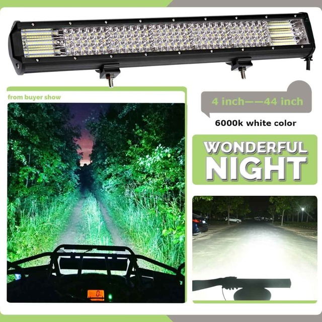 weketory Quad Rows 4 – 44 Inch LED Bar LED Light Bar for Car Tractor Boat OffRoad Off Road 4WD 4×4 Truck SUV ATV Driving 12V 24V