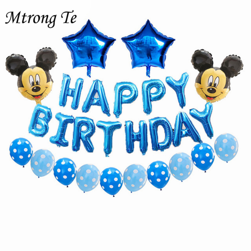 """Baby 1st Birthday Mickey Mouse Minie  Blue Pink Number Helium Foil Balloon 30/"""" ."""