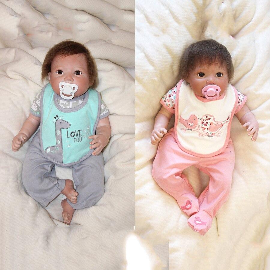 ФОТО 50cm Doll Reborn Silicone Vinly Bebe Dolls Babies Girls Boys Doll Kids Gift Soft Body Birthday Gift