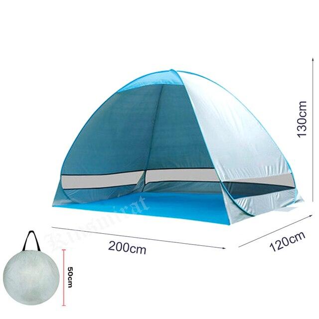 אוהל חוף מתקפל ופתיחה אוטומטית