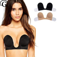 U Invisible Adhesive Bras Sexy Deep Neck Strapless Petals Push Up Breast Bralette New Style