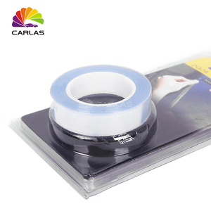 Image 3 - จัดส่งฟรี 1.5 CM x 5 M แรดรถกันชนป้องกันสีฟิล์มไวนิลใสโปร่งใสฟิล์ม
