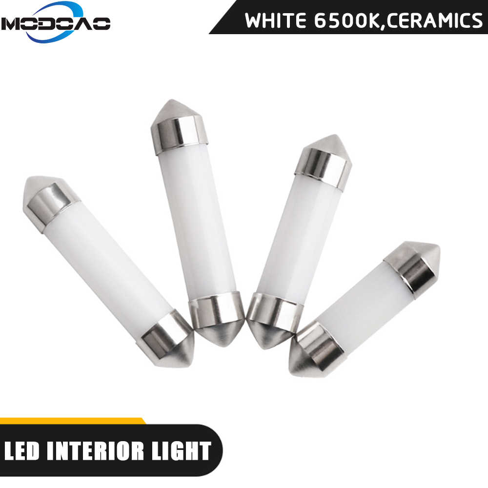 LED Festoon Dome 31/36/39/41mm Automotive LED Interior light Double-pointed-COB ceramic White C5W led Auto Light for Car Styling