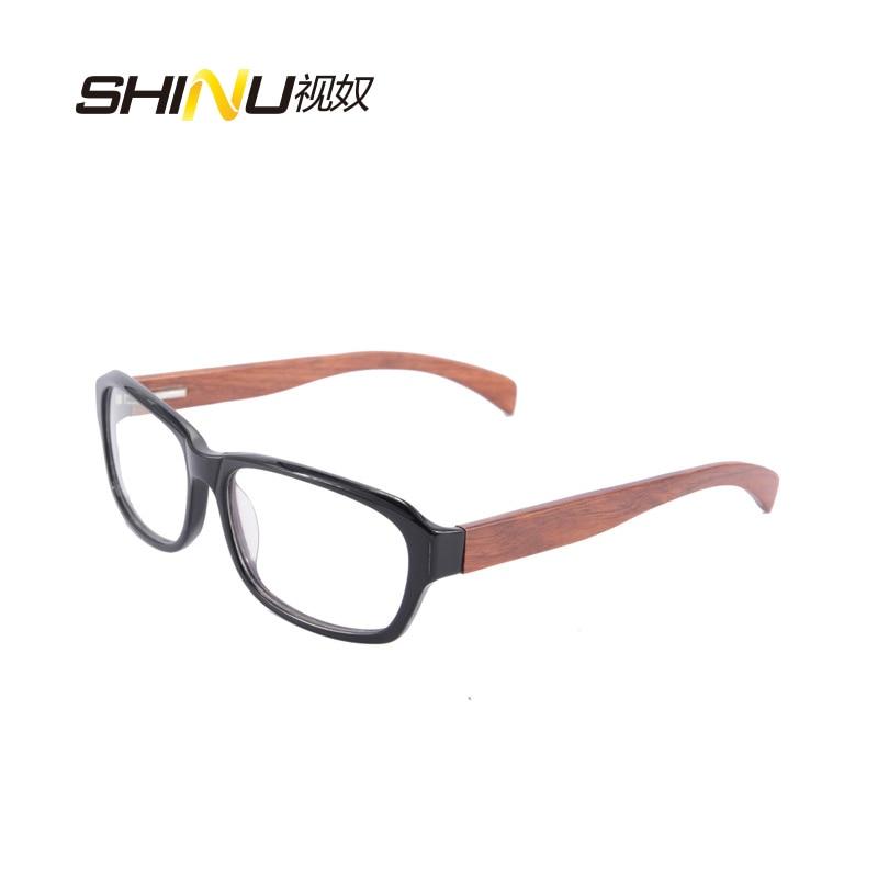 Kacamata optik penghantaran percuma kacamata bingkai kayu asli dengan - Aksesori pakaian - Foto 1