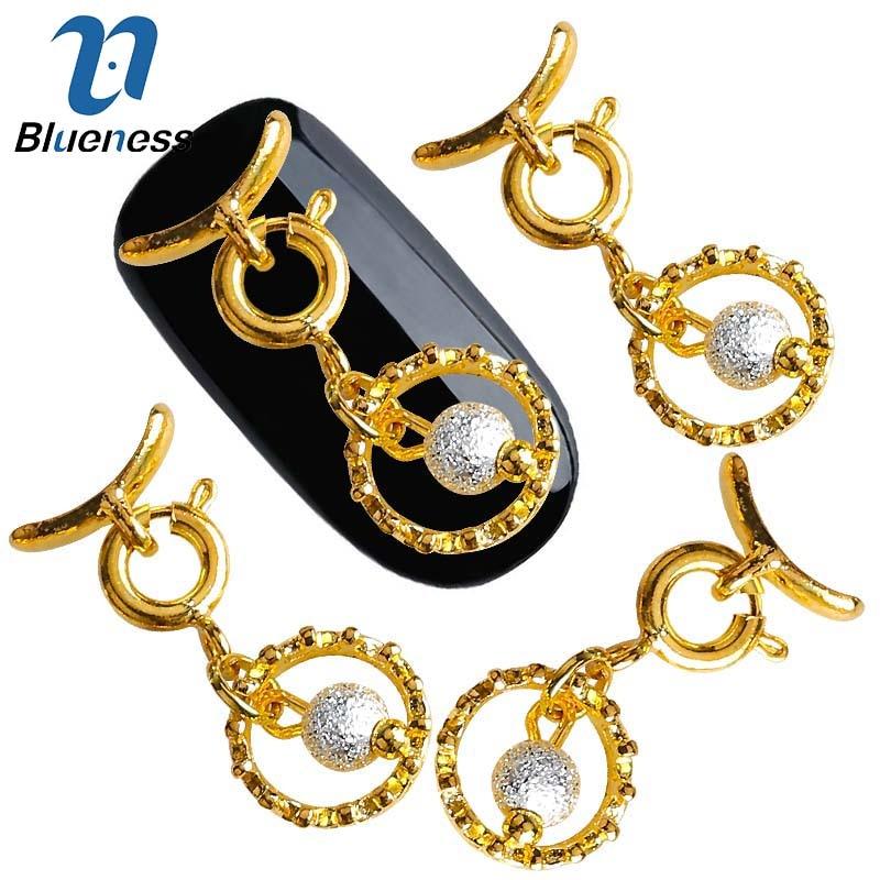 10pcslot Nail Art Decorations Charm Gold Alloy Pendant Jewelry